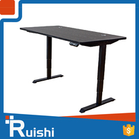 china wooden chief executive office desk electric height adjustable black glass office desk