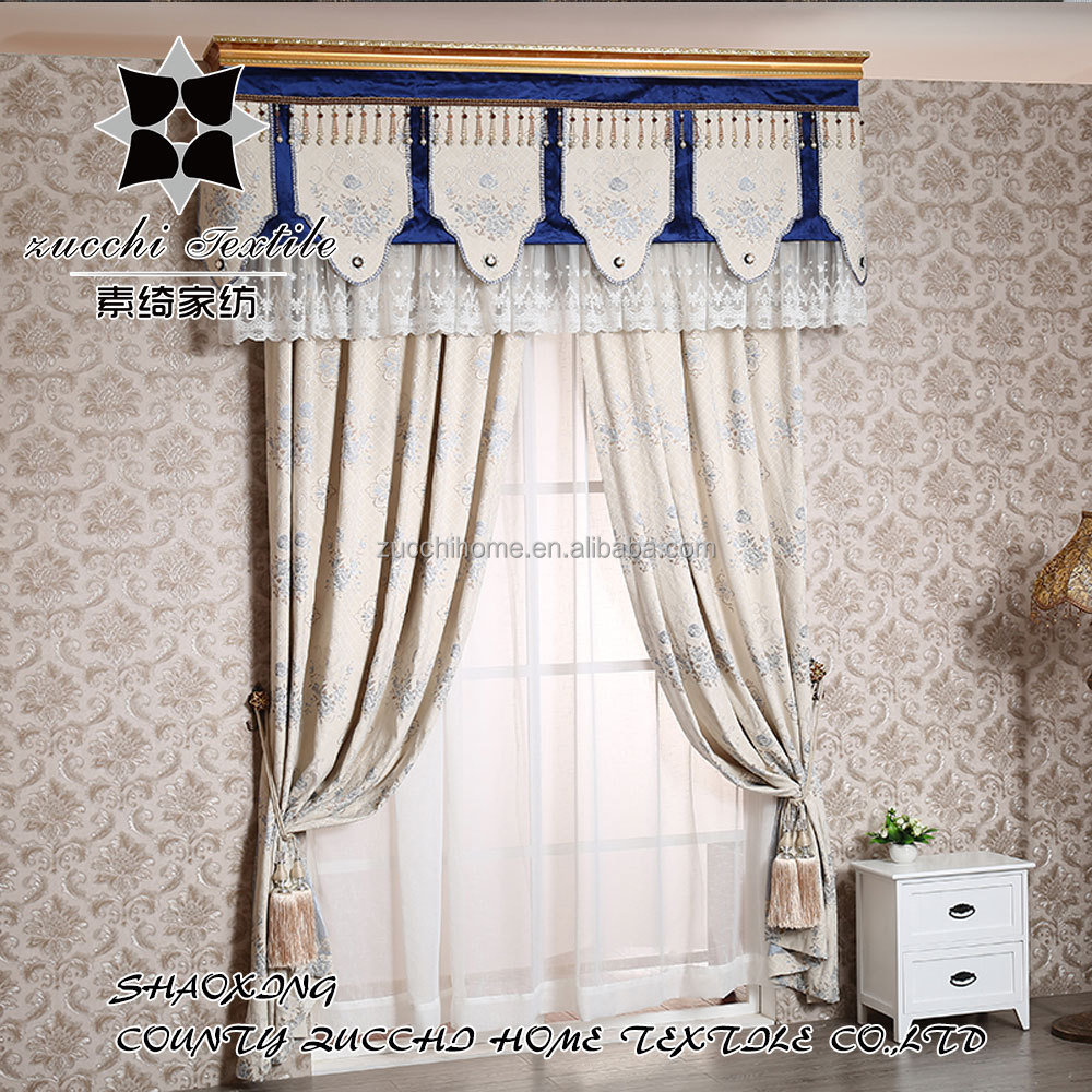 Upscale Luxurious European Drapery Bedroom Blinds Thick Chenille Curtain Fabric For Cold Room