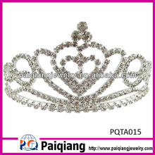 wholesale rhinestone big pageant crown for beauty queen