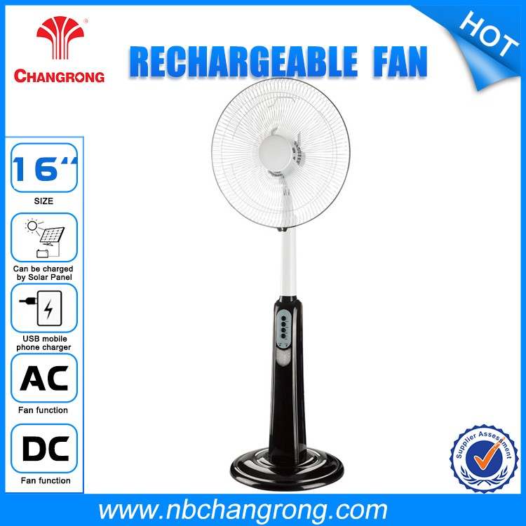 Plastic Rechargeable High Efficiency Hot Selling Stand Rechargeable Fans