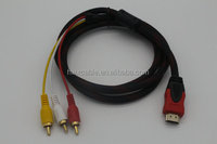 Dongguan factory supply high quality hdmi male to 3 rca video audio AV Cable
