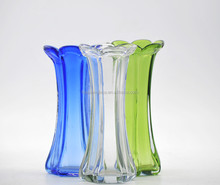 China home decoration wholesale white / red / yellow / blue / green /flower glass vase