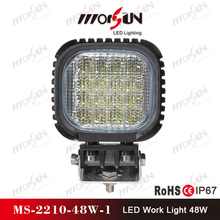 "China factory price 48W 5"" Super bright led head bumber lamp, 12V LED working light for off road car, mining farm truck"