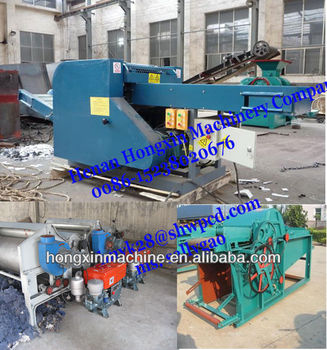 diesel engineer driven waste clothes recycling machine
