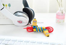 new design cartoon rubber earphone cable winder wholesale