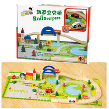 FQ band Train Set Wooden Airport 0 Types Available Wooden Train Track Pack Train Toys wooden Accesaries educational toys