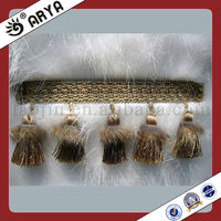 Wholesale Tassels Double Color Taseel Fringe , Curtain Tassel Fringe, Fringe And Trims