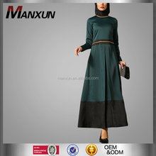 OEM China Supplier 2016 Muslim Abaya Ladies Kurta Design Chain Details Long Sleeve Muslimah Dress