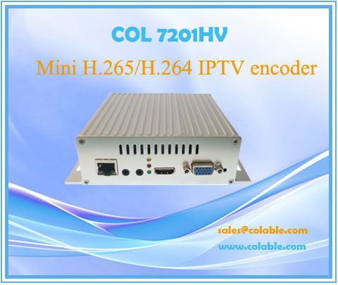 COL7201HV Digital h.265 iptv encoder with hd-mi+vga+ypbpr+av ip encoder