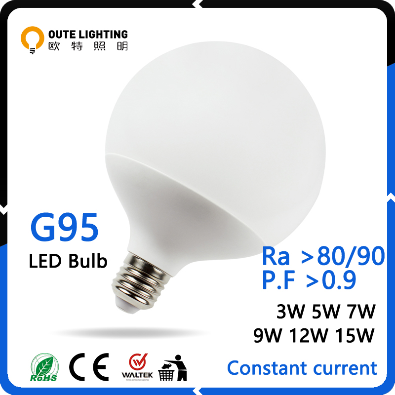 Energy Saving 3W 5W 7W 9W 12W 15W E27 G95 Factory Direct Sale Led Bulb