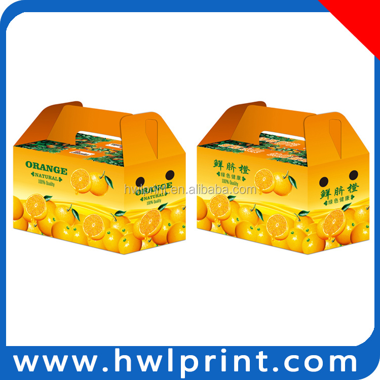 Hot sales factory made best prize fruit box pallet Orange Package box