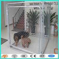 large silver wholesale outdoor galvanized chain link dog kennels