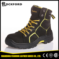 Knight high cut soft comfortable rubber soles safety boots FD6203