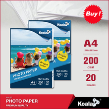 KOALA Factory supply top quality glossy photopaper a4 140g