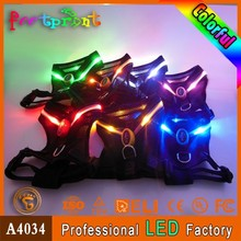 Whole sale led Pet harness firm flashing dog vest/harness