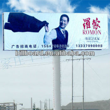 unipole structure billboard highway advertising human design