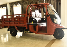 Single Cylinder four stroke 200CC/250CC/300CC heavy loading adult rickshaw 3 wheeler cargo tricycle with cabin for sale in Sudan