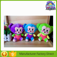 Perfect superior lovely animal monkey with different size and color soft plush promotional gift toy doll