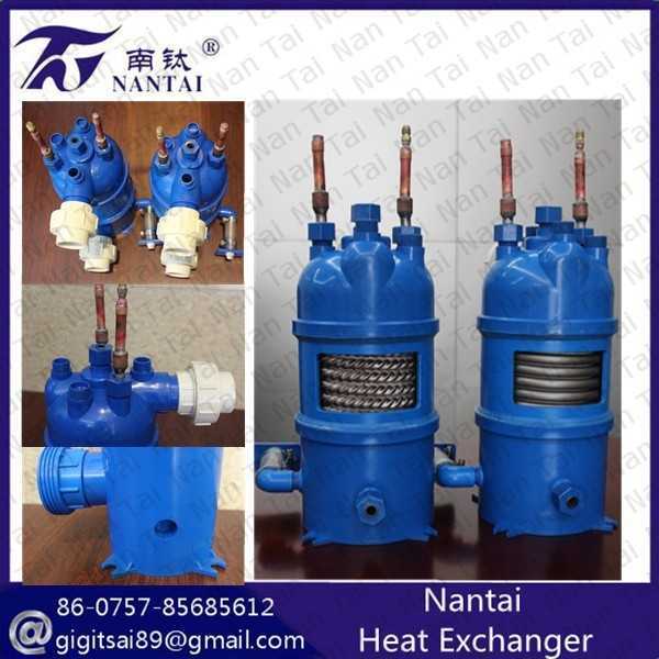 Milk Chiller Used Refrigerant to Water Heat Exchanger