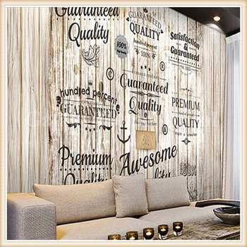 Wood mural wallpaper brick mural custom size buy wood for Custom size wall mural