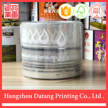 Printing and packaging material custom plastic shrink wrap bottle labels