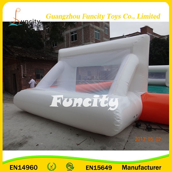 Portable dabble inflatable football pitch for sale