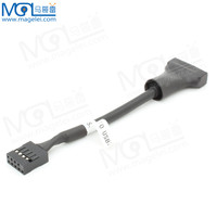 USB 3.0 20Pin Male To USB 2.0 9Pin Female Converter Adapter Cable For Computer
