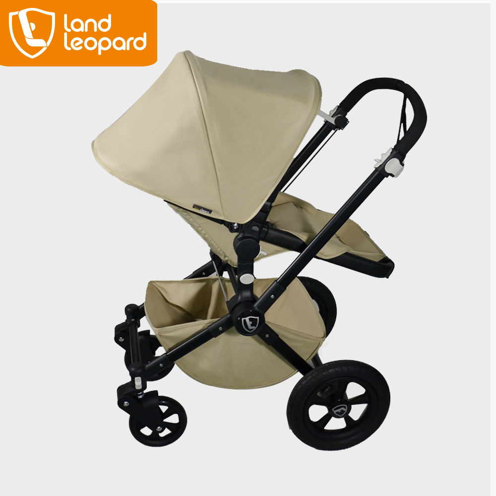 Customed baby stroller Manufacturer Baby Buggy with Big Wheels Aluminum Chassis Producing Accessories Canopy n Basket Pushchair