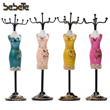 Cheongsam Dresses Mannequin Resin Jewelry Holder