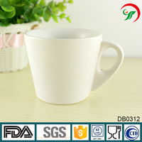 Stock For Sales 10oz ceramic thick milk mug in white glazed