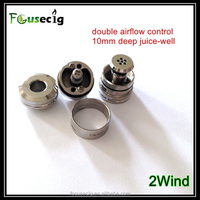 2015 new arrival 2wind RDA double airflow control atomizer genesis vaporizer