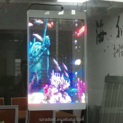 TP01B Programmable Glass Curtain Wifi Poster Mess Transparent Led Display Screen