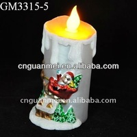 Wholesale battery operated glass christmas candles with led frame