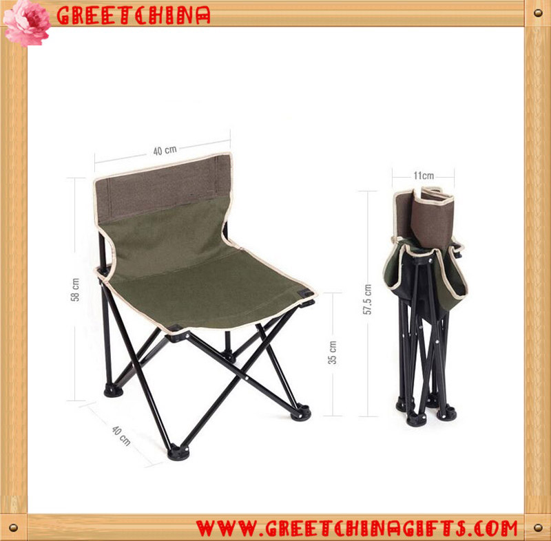 Mini Thicker More Coarse Folding Camping Fishing Chair with Mesh Bag Back