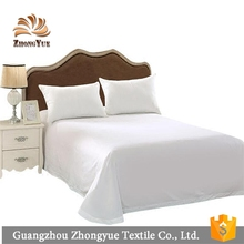 Solid color queen size 100% cotton flat bed sheet for hotel