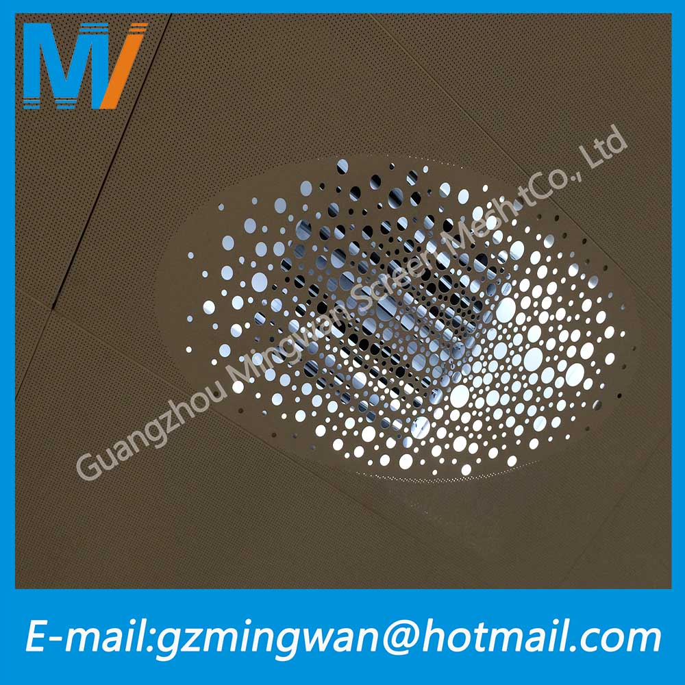 Decorative Perforated Sheet Metal Panels With Many Kinds Material