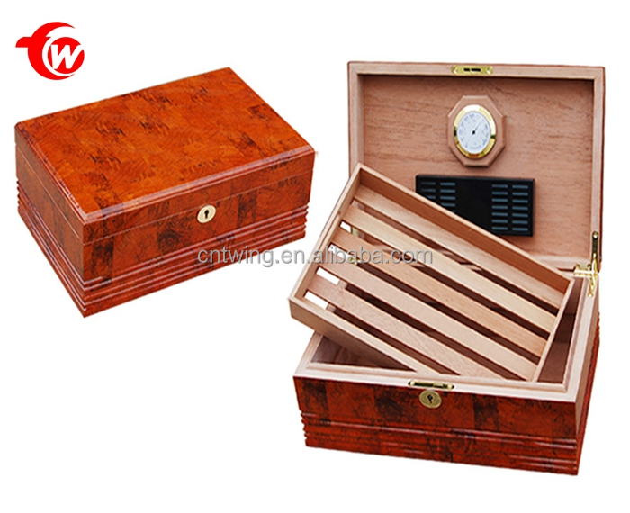 Handmade Spanish Cedar 100 pieces Cigar Humidor With Tray