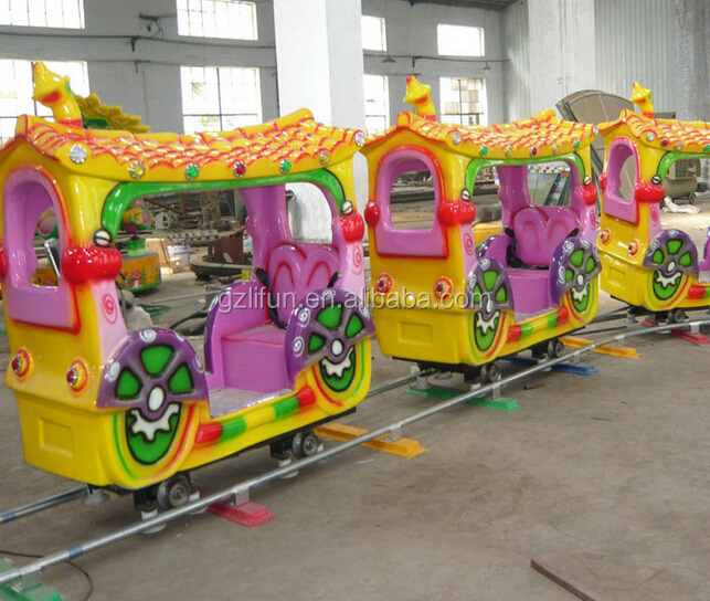 luxury amusement train rides electric train with track