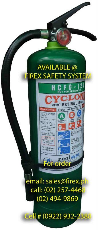 HCFC 123 FIRE EXTINGUISHER