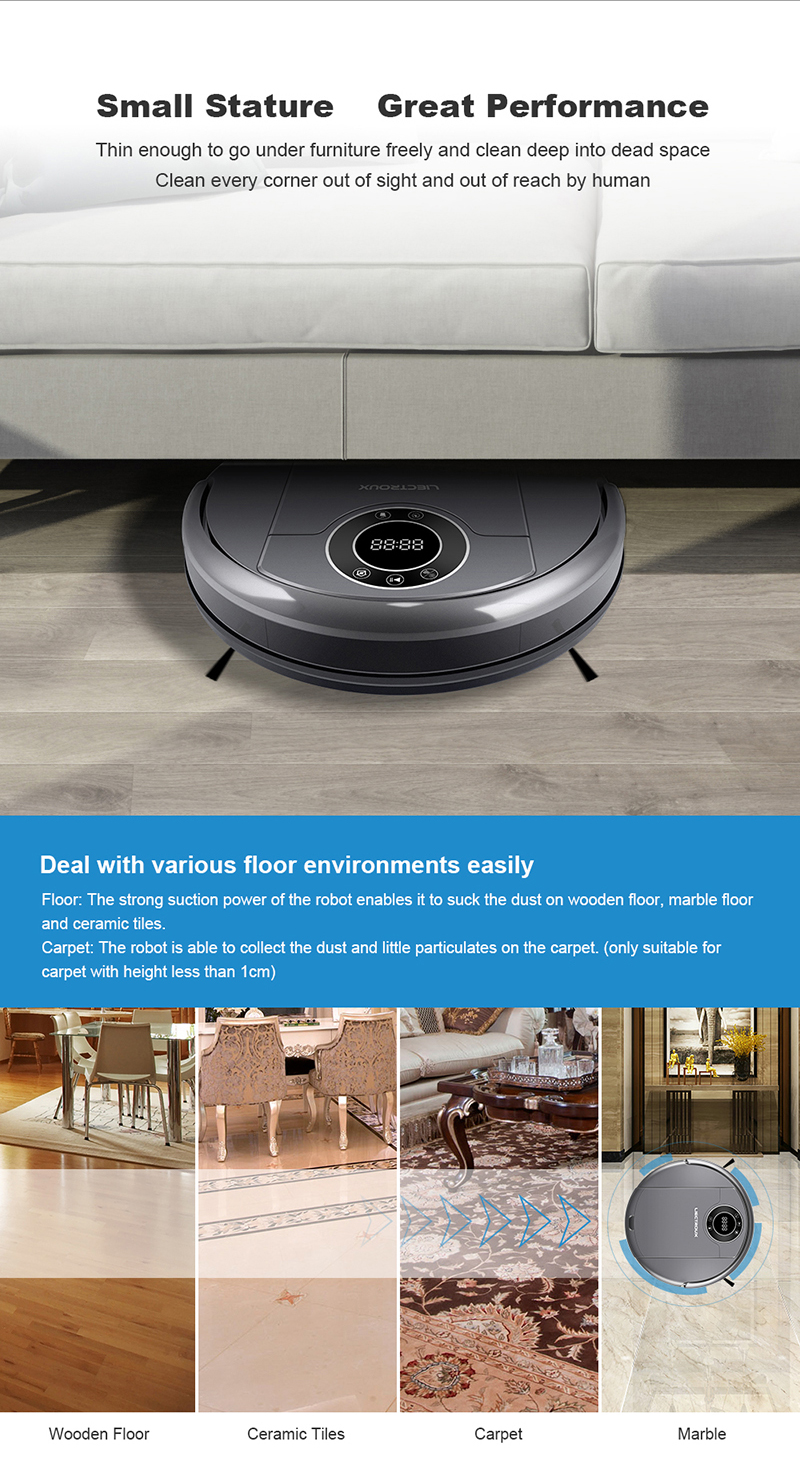 China Manufacturer OEM ZK808 Home Robot Vacuum Cleaner Reviews Best,for FIoor & Carpet,WiFi  App,Map Navigation,3KPa,Wet&Dry Mop