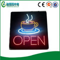 16X16 inch LED open sign for business open sign with coffee