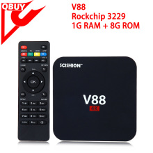cheapest 4k android tv box scishion V88 RK3229 quad core RAM 1GB ROM 8GB android 5.1 OS smart android tv box