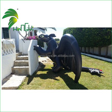 Funny Customer's Feedback Best Selling Inflatable Cartoon Black Dragon