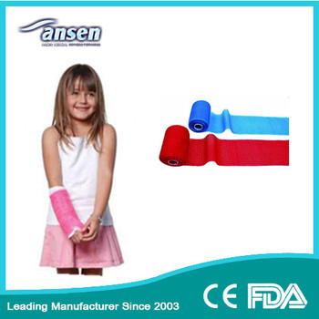 Widely Application Polymer Bone Fracture Bandage Lowest Factory Price Fiberglass Casting Tape with FDA CE Certificate