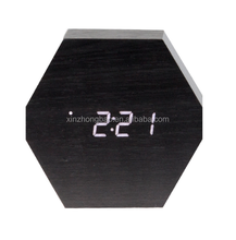 HOT sale digital clock home decor LED clcok fashion wood clock table clock with high quality