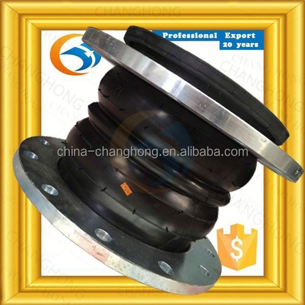 Tariff concessions epdm nbr double sphere flanged rubber expansion joints