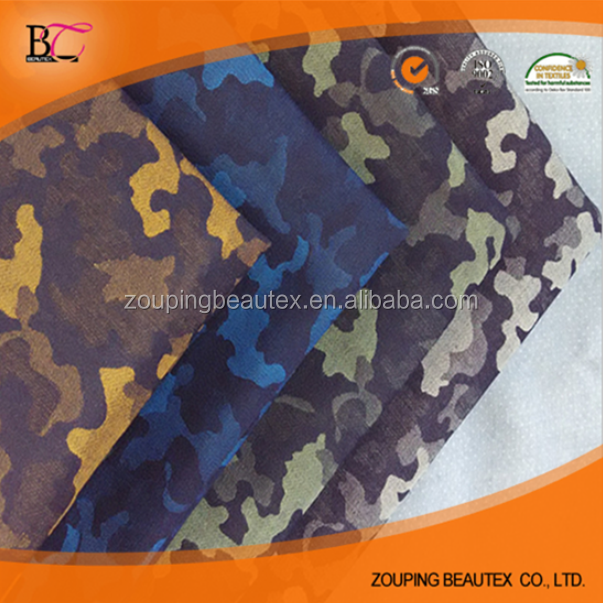 cotton spandex polyester jacquard denim fabric and camouflage denim fabric with high quality