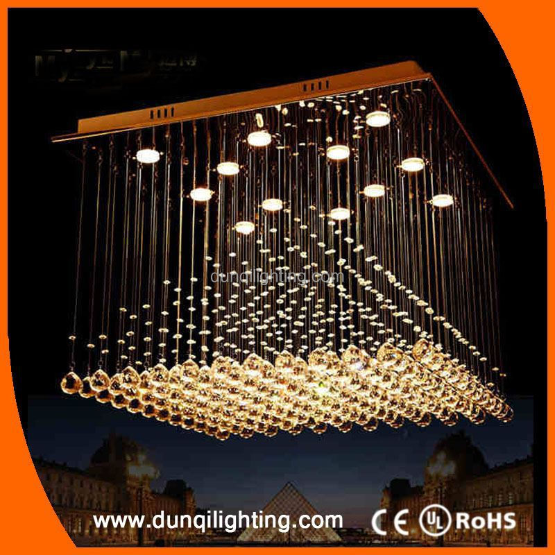 Modern style philippines wire long crystal lighting chandelier ...