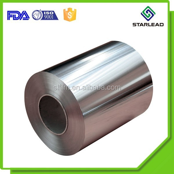 Aluminum PET film coated with solvent adhesive for printing and lamination