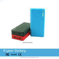 Hot selling plastic usb double interface 10000mah portable charger power bank